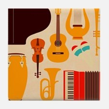 Mid Century Musical Tile Coaster
