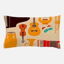 Mid Century Musical Pillow Case