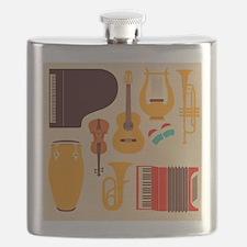 Mid Century Musical Flask