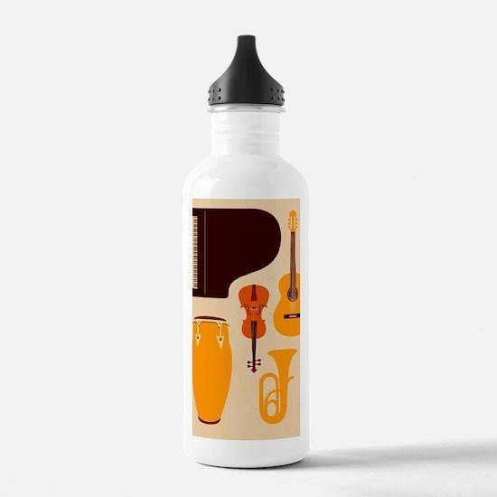Mid Century Musical Water Bottle