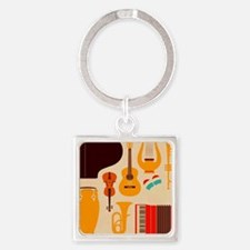 Mid Century Musical Keychains