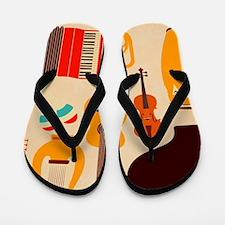 Mid Century Musical Flip Flops