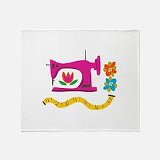 VINTAGE SEWING Throw Blanket