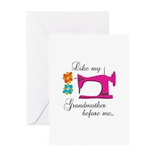 LIKE MY GRANDMOTHER Greeting Cards