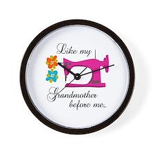 LIKE MY GRANDMOTHER Wall Clock