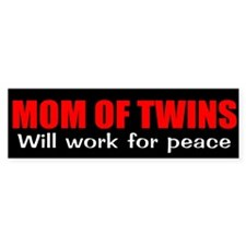 Funny mom twins Bumper Bumper Sticker