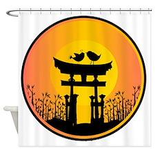 Sunset love Birds  Shower Curtain