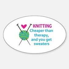 CHEAPER THAN THERAPY Decal