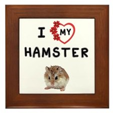 Love My Hamster Framed Tile