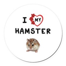Love My Hamster Round Car Magnet