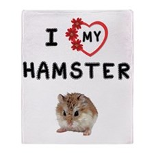 Love My Hamster Throw Blanket