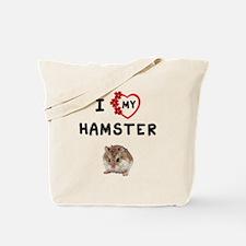 Love My Hamster Tote Bag