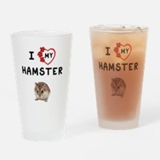 Love My Hamster Drinking Glass