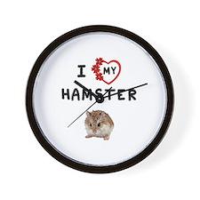 Love My Hamster Wall Clock