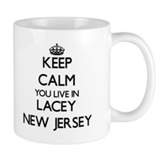 Keep calm you live in Lacey New Jersey Mugs