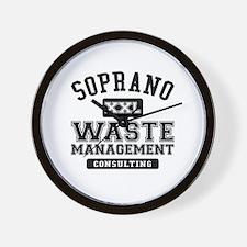 Soprano Waste Management Wall Clock