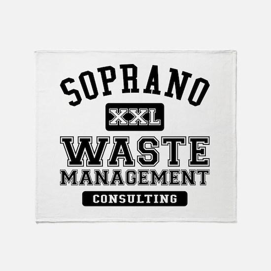 Soprano Waste Management Throw Blanket