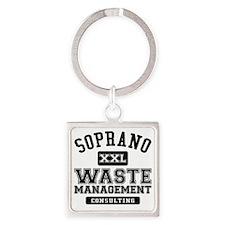 Soprano Waste Management Square Keychain