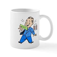 Man Holding Check Mugs
