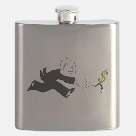Man Chasing Money Flask