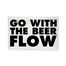 Go With The Beer Flow Rectangle Magnet
