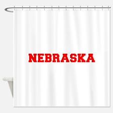 NEBRASKA-Fre red 600 Shower Curtain