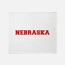 NEBRASKA-Fre red 600 Throw Blanket