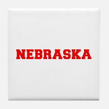 NEBRASKA-Fre red 600 Tile Coaster