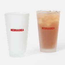NEBRASKA-Fre red 600 Drinking Glass