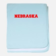 NEBRASKA-Fre red 600 baby blanket