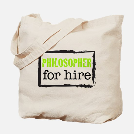 Philosopher for Hire (Green) Tote Bag
