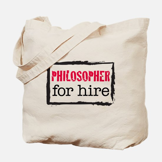 Philosopher for Hire (Red) Tote Bag
