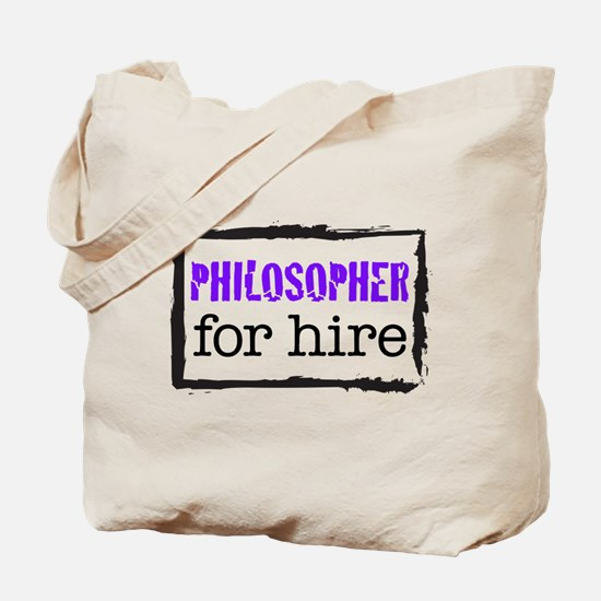 Philosopher for Hire (Purple) Tote Bag