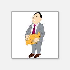 Man And Piggy Bank Sticker