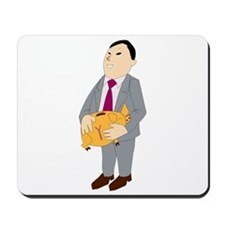 Man And Piggy Bank Mousepad