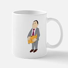 Man And Piggy Bank Mugs