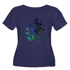 Butterflies Plus Size T-Shirt