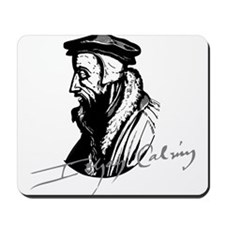 John Calvin Logo with Signature Mousepad