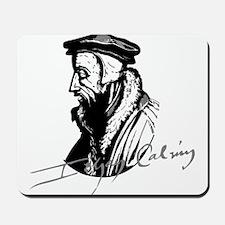John Calvin Logo with Signature Mousepad
