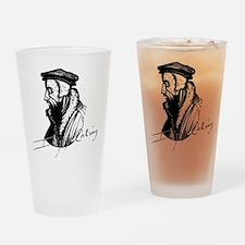 John Calvin Logo with Signature Drinking Glass