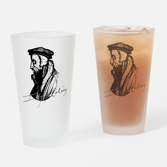 John Calvin Logo with Signature Drinking Glass