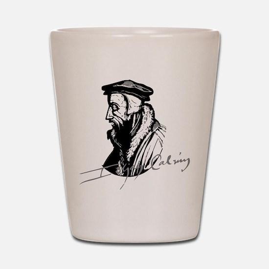 John Calvin Logo with Signature Shot Glass