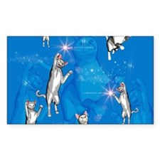 Funny playing cartoon cats Decal