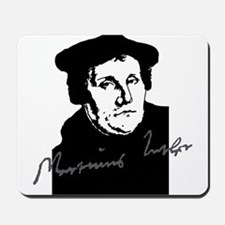 Martin Luther Bust and Signature Mousepad
