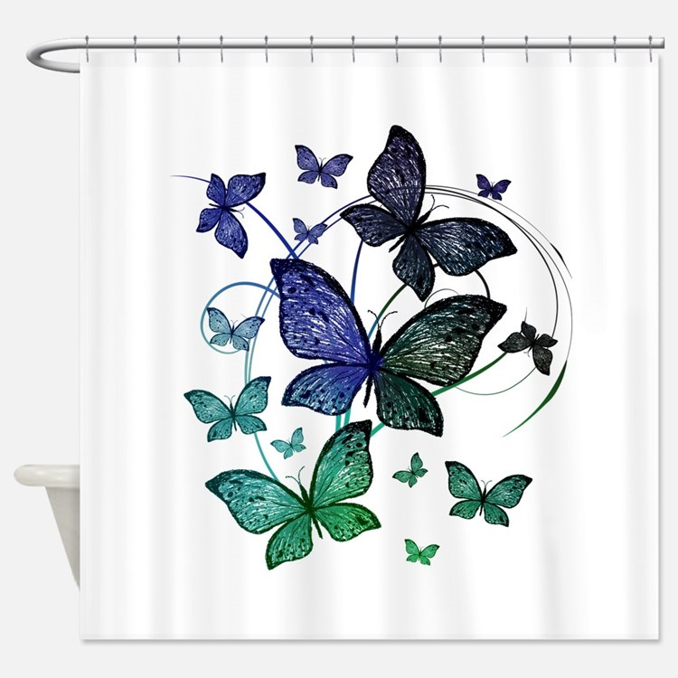 butterfly shower curtains butterfly fabric shower