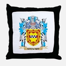 Stewart Coat of Arms - Family Crest Throw Pillow