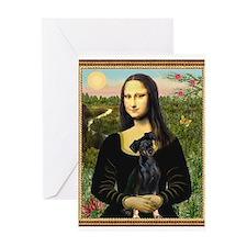 Mona Lisa (new) Min. Pinscher Greeting Card