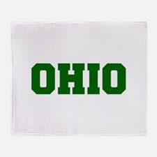 OHIO-Fre d green 600 Throw Blanket