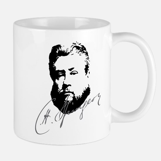 Charles Spurgeon Bust With Signature Mugs