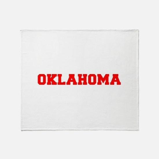 OKLAHOMA-Fre red 600 Throw Blanket